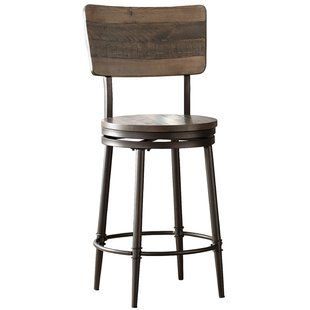 Trent Austin Design Flagler Adjustable Height Swivel Bar Stool Wayfair Swivel Bar Stools Swivel Counter Stools Bar Stools