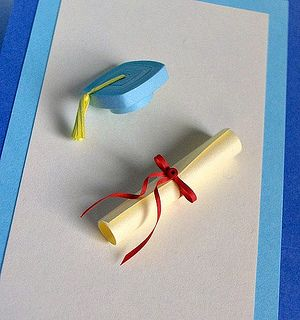Quilled Graduation Card by all things paper, via Flickr