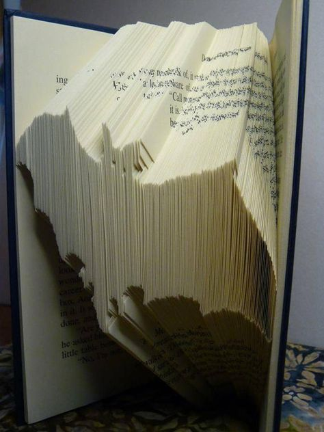 Book Folding Patterns / Templates and Book Folding Software - Animals and Insects - Bat MMF Pattern - NORMAL FOLD PATTERN (MMF) Create your own stunning piece of Book Art with this book folding pattern.Book Folding Patterns / Templates and Book Folding
