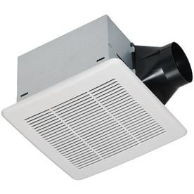 Utilitech 1 1 Sone 110 Cfm White Bathroom Fan Energy Star 7131 03 Products Bathroom Exhaust Fan White Bathroom Energy Star