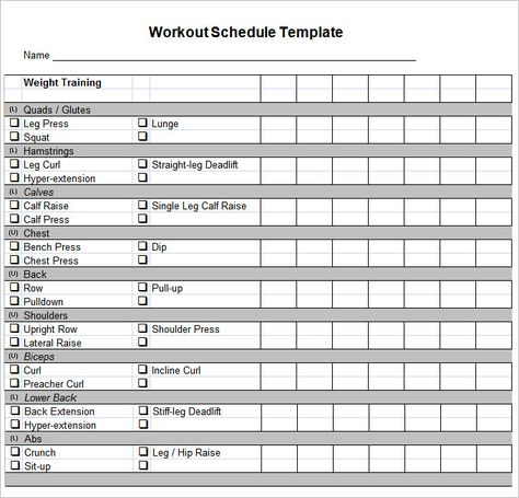Workout Schedule Template u2013 10+ Free Word, Excel, PDF Format - amortization schedule in excel