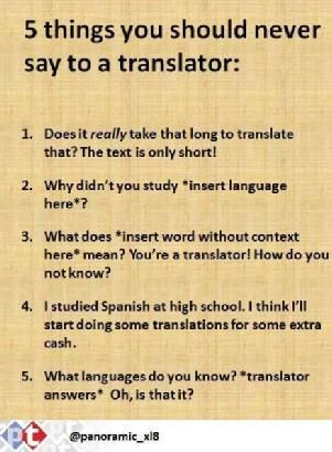 5 Things You Should Never Say to a Translator Translation and - translator resume