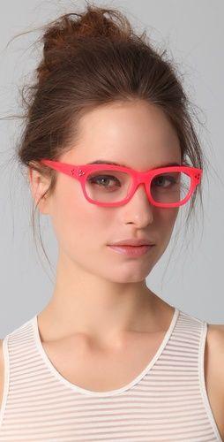 matthew williamson neon pink glasses.