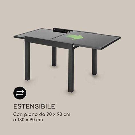 Tavolo Da Giardino In Ferro Allungabile.Blumfeldt Pamplona Extension Tavolo Da Giardino Allungabile