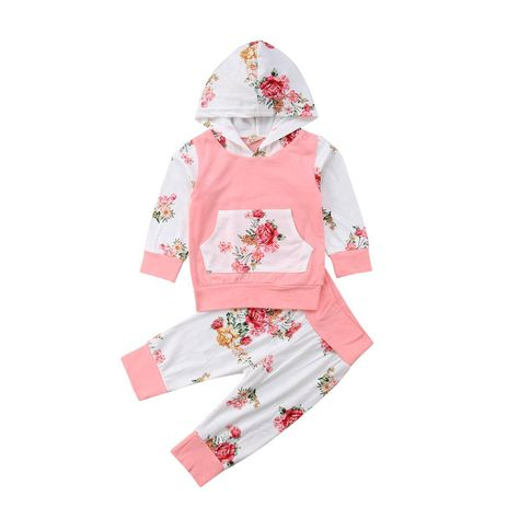 Toddler Baby Girl Clothes Sweatshirt Tops Pants Infant Outfit Sets Tracksuit Set