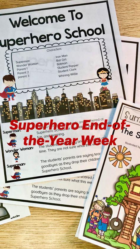 Superhero End-of-the-Year Week