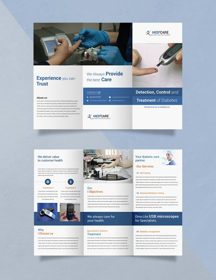 photograph about Printable Tri Fold Brochures identify Cost-free Diabetic issues Brochure Trifold Brochure Templates Style