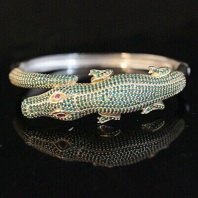 Turkısh Handmade Ruby Sterlıng Sılver 925K Bracelet Cuff Good