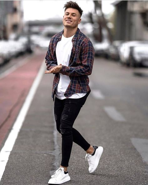 Casual street style outfit for men.