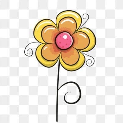 Six One Cartoon Fresh Simple In 2021 Flower Clipart Png Free Flower Clipart Free Watercolor Flowers