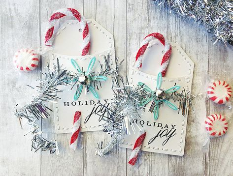 In the spirit of the upcoming holidays, I thought I would share a few different holiday tag ideas with you today to get you in the mood for creating this season! 1, Chalkboard Tags To get this look, these tags were cut from black cardstock, then stamped with Versamark ink and embossed with white embossing …