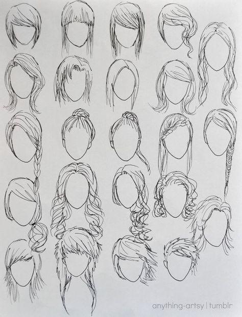 Drawing Tutorial For Beginners Manga Anime Hair 30 Ideas Drawings Anime Drawings Cartoon Drawings