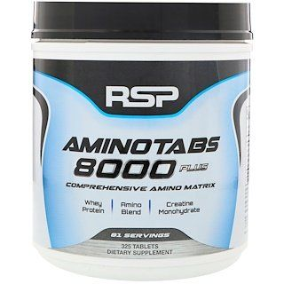 Rsp Nutrition Aminotabs 8000 Plus 325 Tablets Creatine Monohydrate Micronized Creatine Nutrition