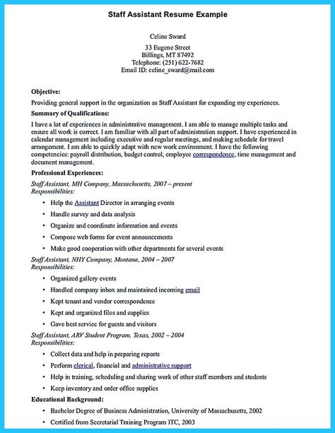 cool Writing Your Assistant Resume Carefully, Check more at http - clerical assistant resume