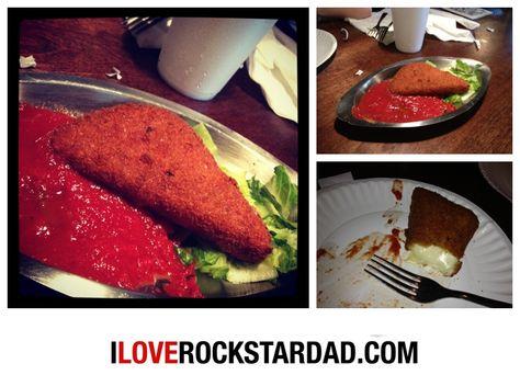Fried Mozzarella at Tonella's Pizza Kitchen.  Best pizza in town. www.iloverockstardad.com