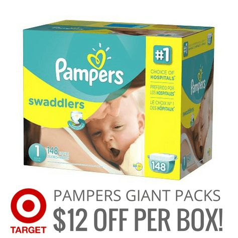 Pampers Giant Pack Boxed Diapers Pampers Swaddlers Diapers