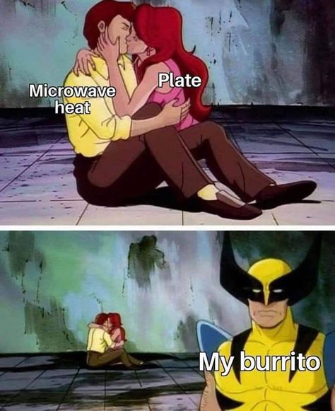 Nothing says self-care like scrolling through achingly relatable and incredibly stupid memes. #lol #memes #funny #humor #xmen #relatable #food #burrito #wolverine