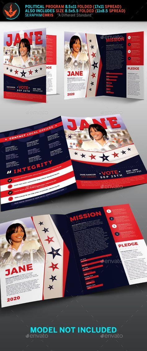 Vote Jane 2 Political Brochure Template 2   Brochure Templates ...