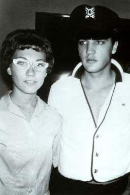 Elvis with fans summer 1960