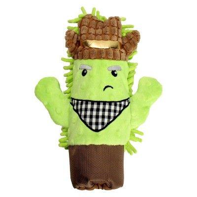 Cactus Water Bottle Cruncher Plush Dog Toy Medium Boots