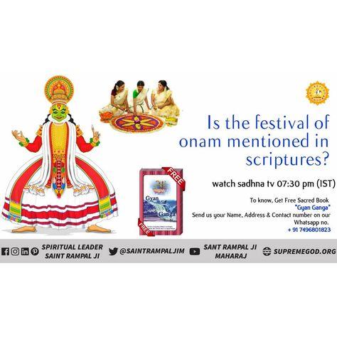 Is the #festival #onam mentioned in any #holy #scripture ??? #SaintRampalJi #onam2019 #onamsaree #onamission #onamfestival #onamspecial #onamcelebration #onam2k19 #onamissionmachines #kerala #keralafloods #keralagallery #keralagram #kerala_360