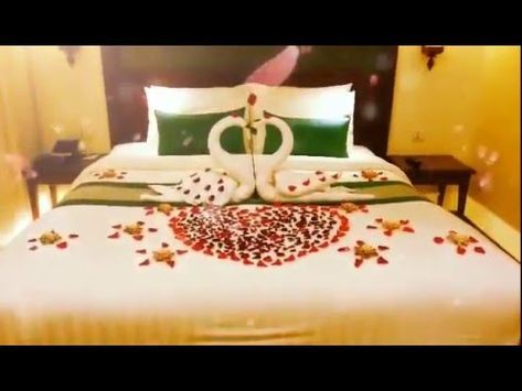 Bed Making How To Make Bed Honeymoon Suite Towel Art Youtube Bed Decor How To Make Bed Bedroom Decor For Couples