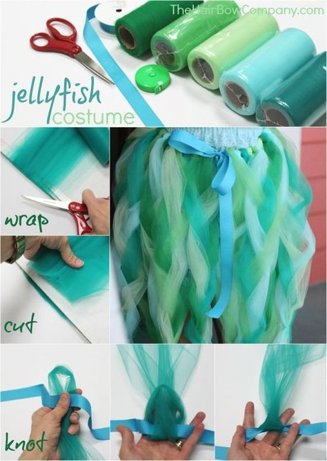 Jellyfish Costume Our favorite DIY jellyfish tutu dress! You can easily make this adorable tutu – perfect for a jellyfish or other sea creature costume!
