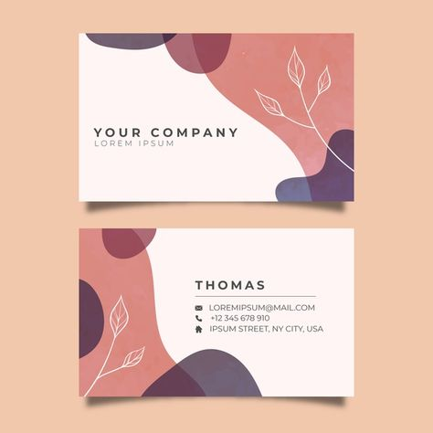 Template abstract business card with pas. Professional Business Card Design, Luxury Business Cards, Elegant Business Cards, Business Casual, Name Card Design, Design Graphique, Graphic Design Posters, Name Cards, Presentation Design