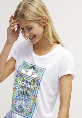 adidas Originals TONGUE T shirt print white Zalando.nl