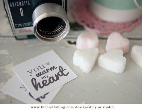 Valentine's Day Tag by M.Studio {Free Printable}   The Pretty Blog