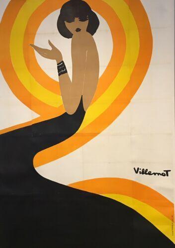 Detalles Acerca De Original Cartel Vintage Villemot Spirale