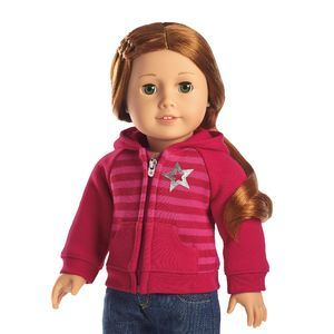American Girl 2009 Sporty Riding Outfit Button Front Polo Shirt Doll Top Only