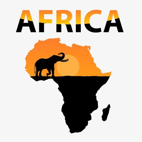 Vector Map Of Africa Png And Vector Africa Map Africa African Map