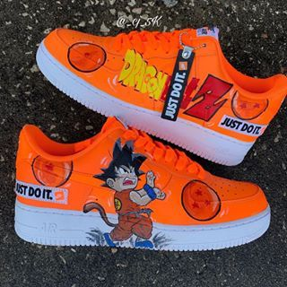 quality design utterly stylish 2018 sneakers Kid Goku AF1 ( Comment what you think❤️🔥。 This Custom shoe was ...