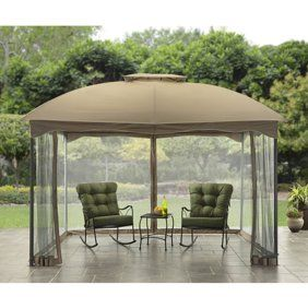 Online Gym Shop Cb19809 10 X 10 Ft Outdoor Gazebo 2 Tier Patio Tent Walmart Com Backyard Gazebo Inexpensive Patio Patio Gazebo