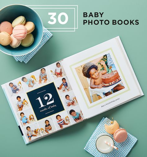 9154e76ed6af5 Find 30 baby photo book designs to capture every moment of their first years.  Fill your pages with adorable memories you ll never forget.