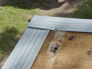 Metal Drip Edge Overlaps At The Corner Of The Roof Curvedroofing Replace Roof Shingles Roof Drip Edge Drip Edge