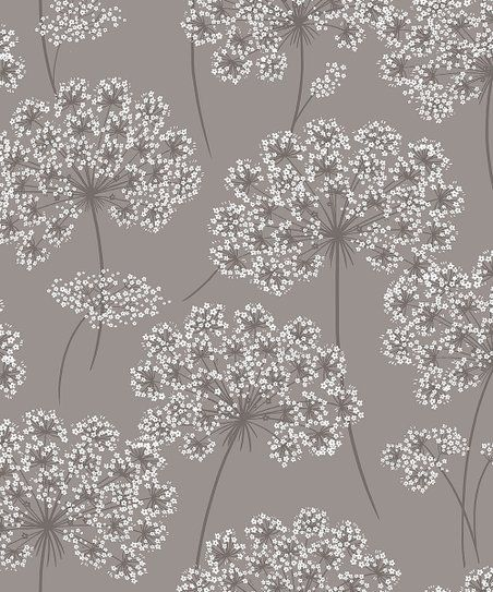 Wallpops Gray Angelica Peel And Stick Wallpaper Zulily Nuwallpaper Peel And Stick Wallpaper Brewster Wallcovering