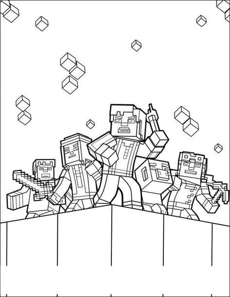 Minecraft Coloring Pages Free Printable In 2020 Varityskuva Minecraft Tulostettava