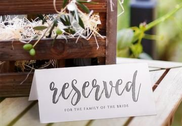 Printable Reserved Sign Tent Romantic Calligraphy Large Editable Color Templett Reserved Signs Reserved Wedding Signs Sign Templates