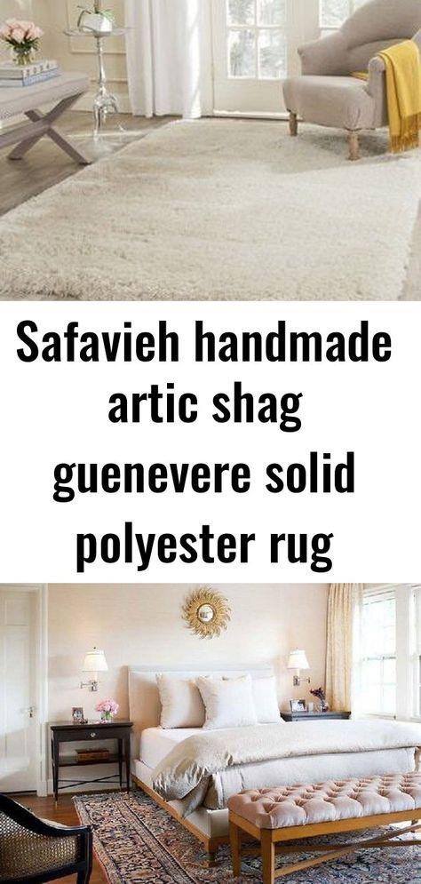 Safavieh handmade artic shag guenevere solid polyester rug
