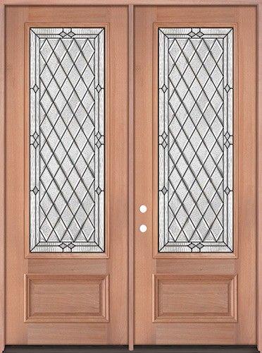 8 0 Tall Diamond 3 4 Lite Mahogany Wood Double Door Unit 294 1838 2 Wk Lt Double Doors Tuscan Doors Mahogany Wood