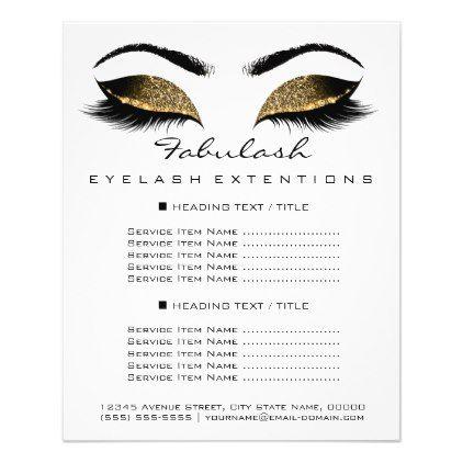 Makeup Artist Beauty Salon Price List Flyer White Zazzle Com Beauty Salon Price List Salon Price List Best Makeup Artist