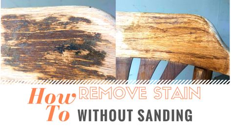 Remove Wood Stain Without Sanding