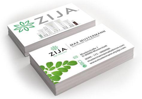 Zija Visitenkarten 85 X 55 Mm Verschiedene Materialien