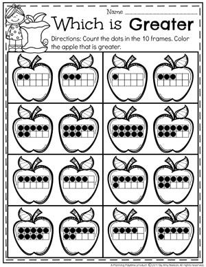 Comparing Numbers Worksheets Planning Playtime Kindergarten Math Worksheets Math Centers Kindergarten Kindergarten Math Activities