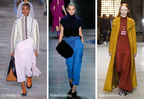 Fall/ Winter Fashion Trends - Fall 2018 Runway Trends - Glows LOVE the striped high neck boxy sweater
