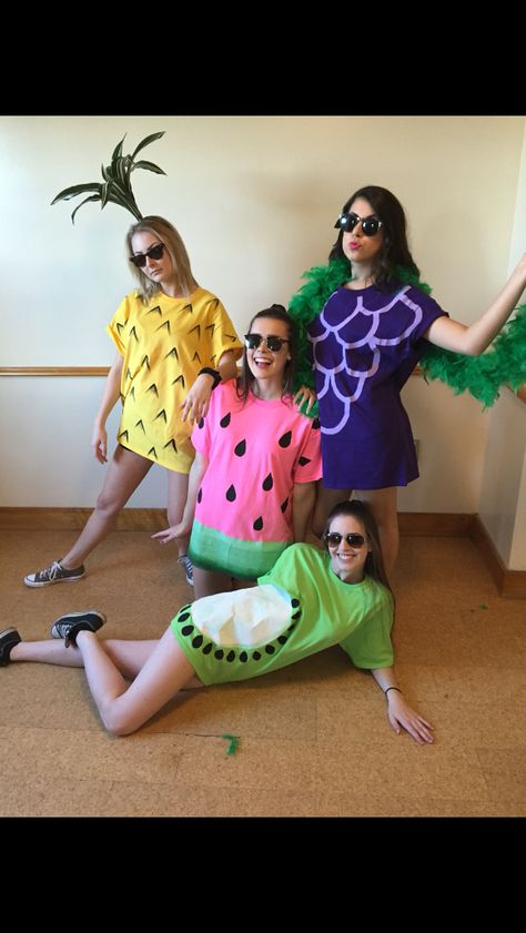 Fruit costumes for Halloween