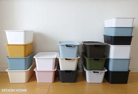 100均 ダイソー キャンドゥ セリア の人気商品 スクエア収納ボックス フタ付きボックスなので重ねて収納することができ キッチンや洗面所 子供部屋など色んな収納に使用できます 通販には対応しておらず 店舗購入が基本です スクエア収納ボックスのサイズや