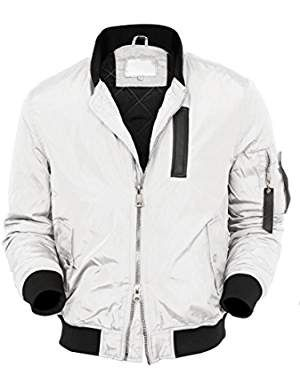 VW Mens Bomber Jacket Active MA-1 Slim Fit Lightweight Windbreaker | Bomber jacket  men, Jackets, Wind jacket